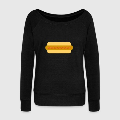 hotdog hot dog sausages fast food fastfood8 - Women's Wideneck Sweatshirt