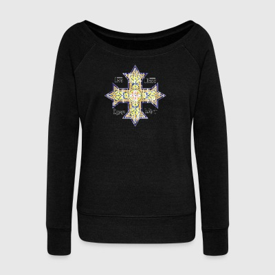Christian Coptic Cross - Women's Wideneck Sweatshirt