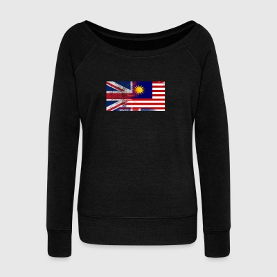 British Malaysian Half Malaysia Half UK Flag - Women's Wideneck Sweatshirt