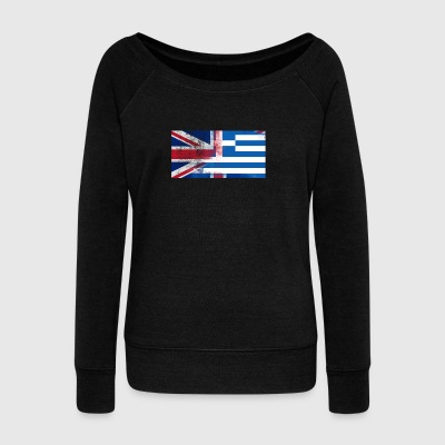 British Greek Half Greece Half UK FlagBritish Gree - Women's Wideneck Sweatshirt