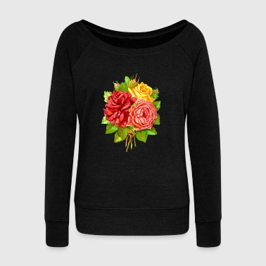 flower - Women's Wideneck Sweatshirt