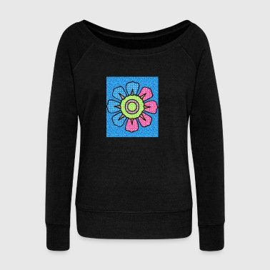 Flower power - Women's Wideneck Sweatshirt