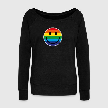 RAINBOW SMILE - Women's Wideneck Sweatshirt