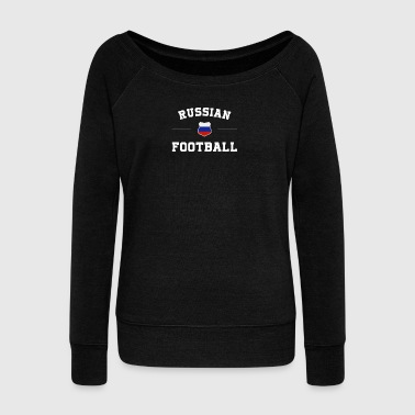 Russia Football Shirt - Russia Soccer Jersey - Women's Wideneck Sweatshirt