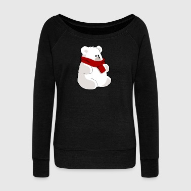 polar bear eisbaer nordpol north pole alaska7 - Women's Wideneck Sweatshirt