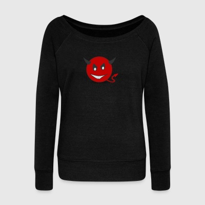 devil clipart devil7 - Women's Wideneck Sweatshirt