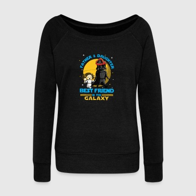Father and Daughter in the Galaxy - Women's Wideneck Sweatshirt