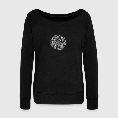 Volleyball words tshirt - Women's Wideneck Sweatshirt