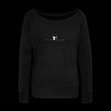 Archery lover heartbeat - Women's Wideneck Sweatshirt