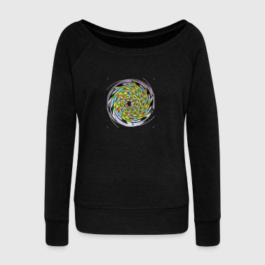 MULTI SWIRL - Women's Wideneck Sweatshirt
