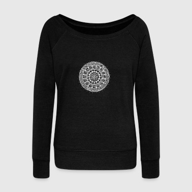 mandala white - new art - Women's Wideneck Sweatshirt