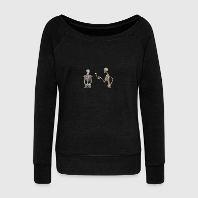 Skeletons in love - Women's Wideneck Sweatshirt