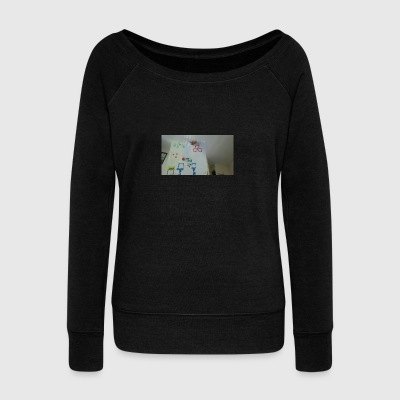 channel art - Women's Wideneck Sweatshirt