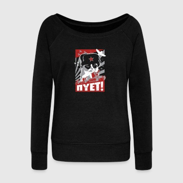 Funny Cat T-Shirt Sweater and Hoodie - Women's Wideneck Sweatshirt