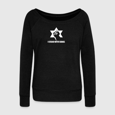 I Stand with Israel - Women's Wideneck Sweatshirt