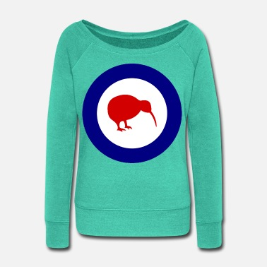 Airforce RNZAF - Royal New Zealand Air Force Logo - Women's Wide-Neck Sweatshirt