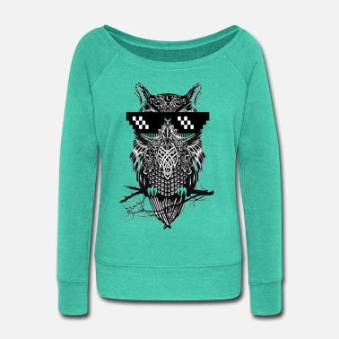 Owl Owl - Women's Wide-Neck Sweatshirt