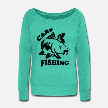 Carp Carp Fishing - Women's Wide-Neck Sweatshirt
