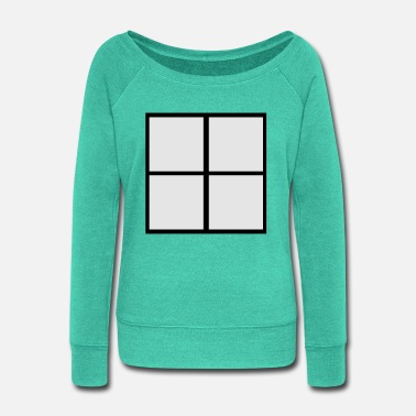 Windows Window - Women's Wide-Neck Sweatshirt