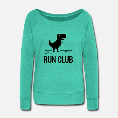 Running Club run club - Women's Wide-Neck Sweatshirt