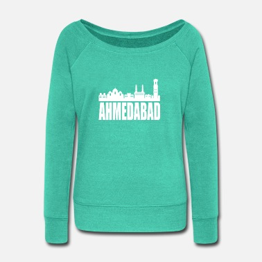 Hyderabad Ahmedabad Hyderabad India - Women's Wide-Neck Sweatshirt