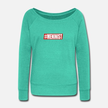 Official Person Official Meninist - Women's Wide-Neck Sweatshirt