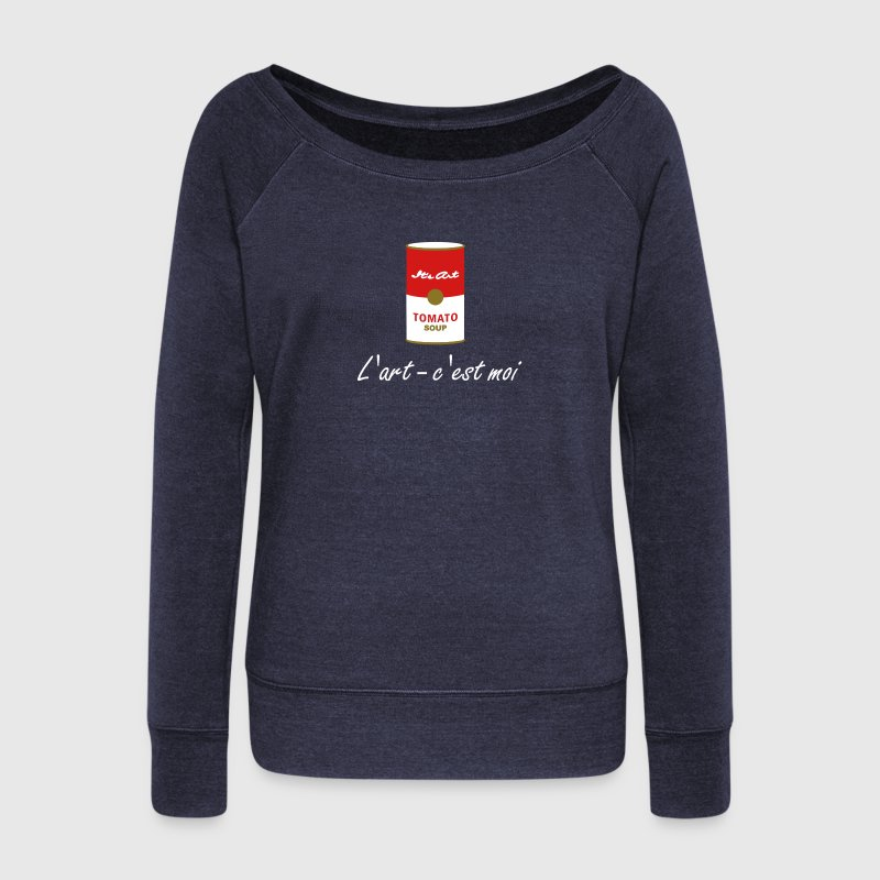 tomato soup art object (3c) - Women's Wideneck Sweatshirt
