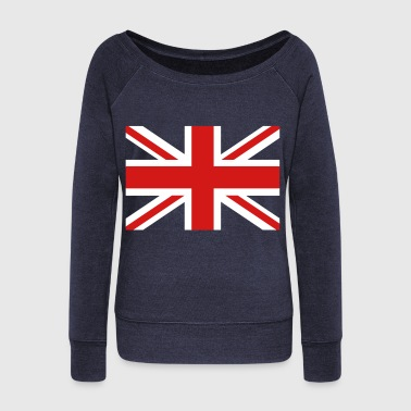 Union Jack central cross - Women's Wideneck Sweatshirt