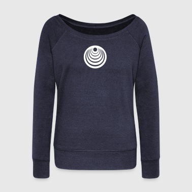 Luna amulet - Symbol of Moon Goddness Luna, c, protection symbol - Women's Wideneck Sweatshirt