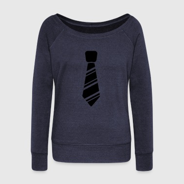 Neck Tie Neck Tie - Women's Wideneck Sweatshirt