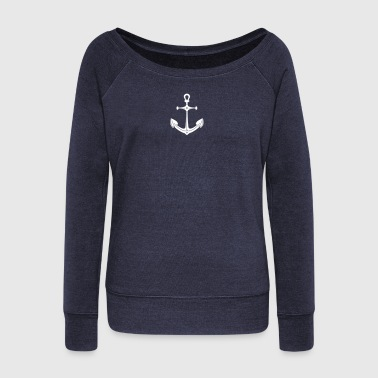 anchor (1c) - Women's Wideneck Sweatshirt