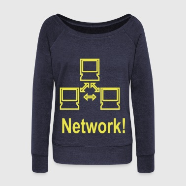 network - Women's Wideneck Sweatshirt