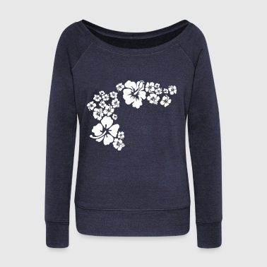 hawaii flower - Women's Wideneck Sweatshirt