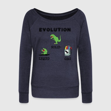Poor T-Rex Evolution - Women's Wideneck Sweatshirt