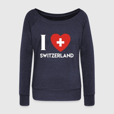 Switzerland Switzerland wins present - Women's Wideneck Sweatshirt