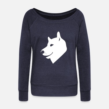 Dog Head Head dog - Women's Wideneck Sweatshirt
