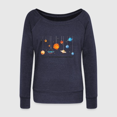 Flat Earth solar system - Women's Wideneck Sweatshirt