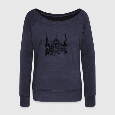 Church Window - Women's Wideneck Sweatshirt