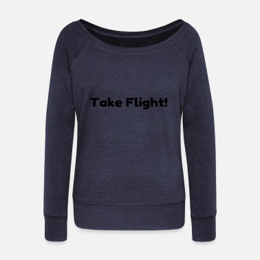 Hockey Take Flight - Women's Wideneck Sweatshirt