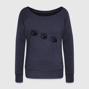 Bee little beed - Women's Wideneck Sweatshirt