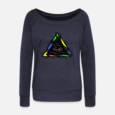 All seeing eye - Women's Wideneck Sweatshirt