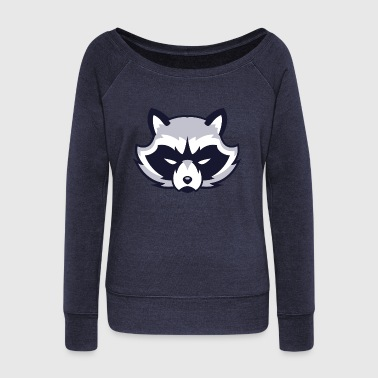 Racoon - Women's Wideneck Sweatshirt