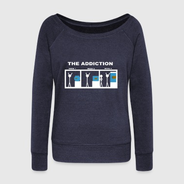 The addiction of aquariums - Women's Wideneck Sweatshirt