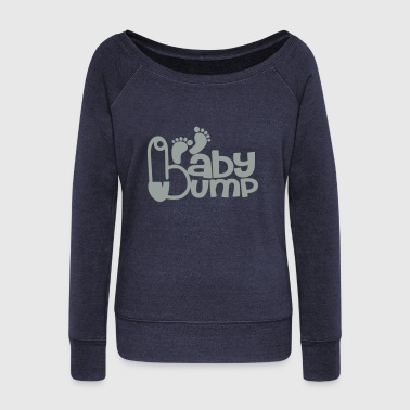Baby Bump - Women's Wideneck Sweatshirt