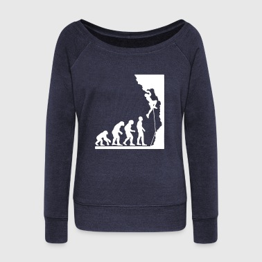 Rock Climbing Evolution Shirt - Women's Wideneck Sweatshirt