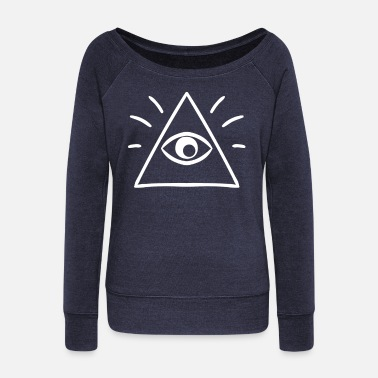All Seeing Eye The All Seeing Eye Sees You - Women's Wideneck Sweatshirt