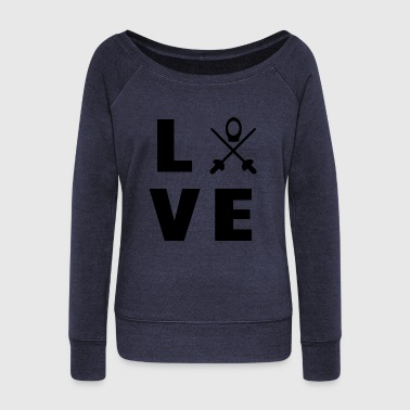 Queen And King love my sport - Women's Wideneck Sweatshirt
