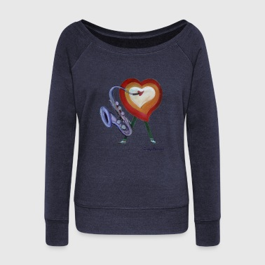 Corazon de jazz - Women's Wideneck Sweatshirt