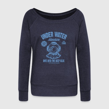 UNDER WATER ADVENTURE - Women's Wideneck Sweatshirt