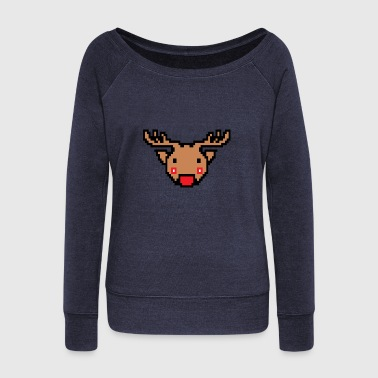 Retro rendeer - Women's Wideneck Sweatshirt